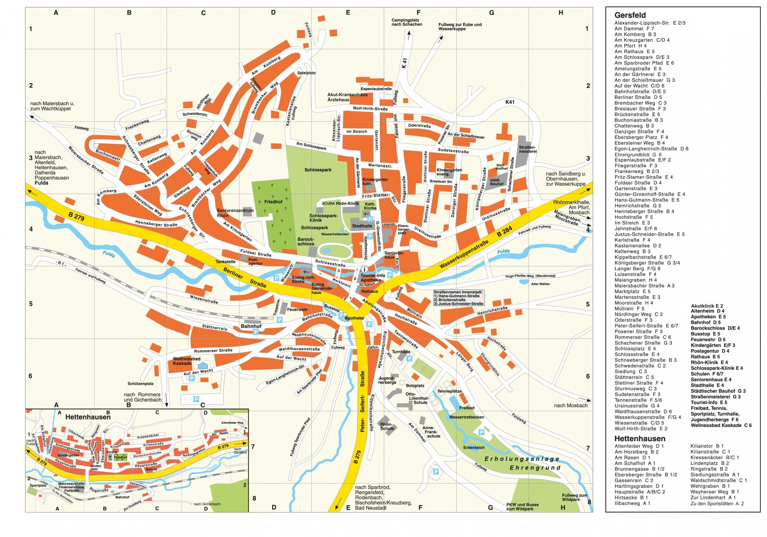 Stadtplan - Stadt Gersfeld (Rhön)